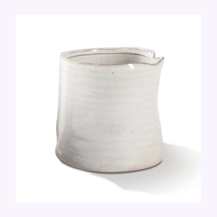 Fringe Cache-Pot White Vessel Fringe