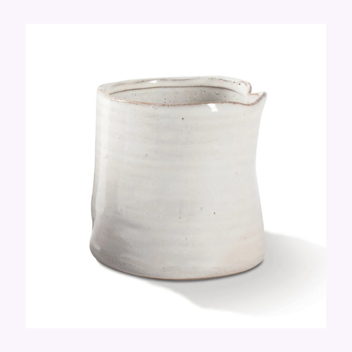Fringe Fringe White Vessel Planter