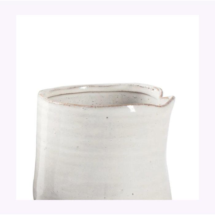 Fringe White Vessel Planter