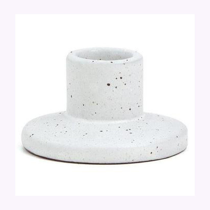Paddywax Paddywax White Speckled Small Candle Holder