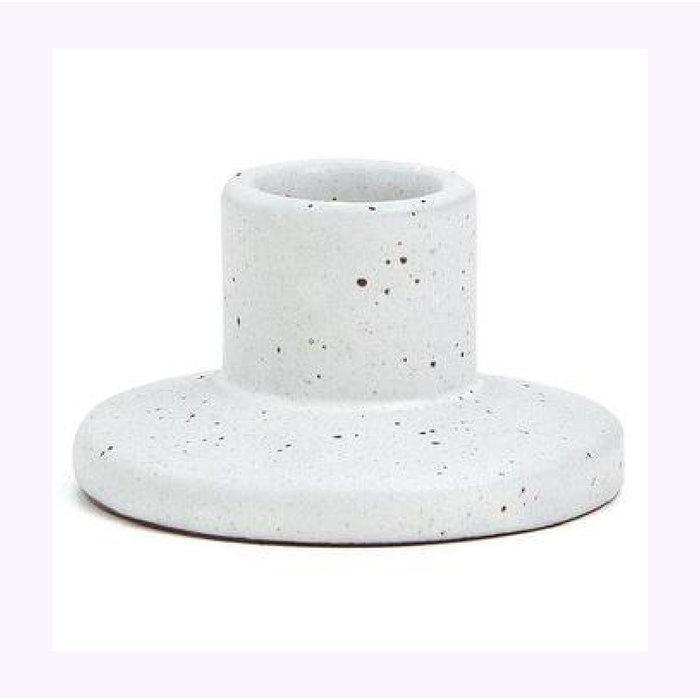 Petite Porte-Chandelle Blanc Speckled Paddywax