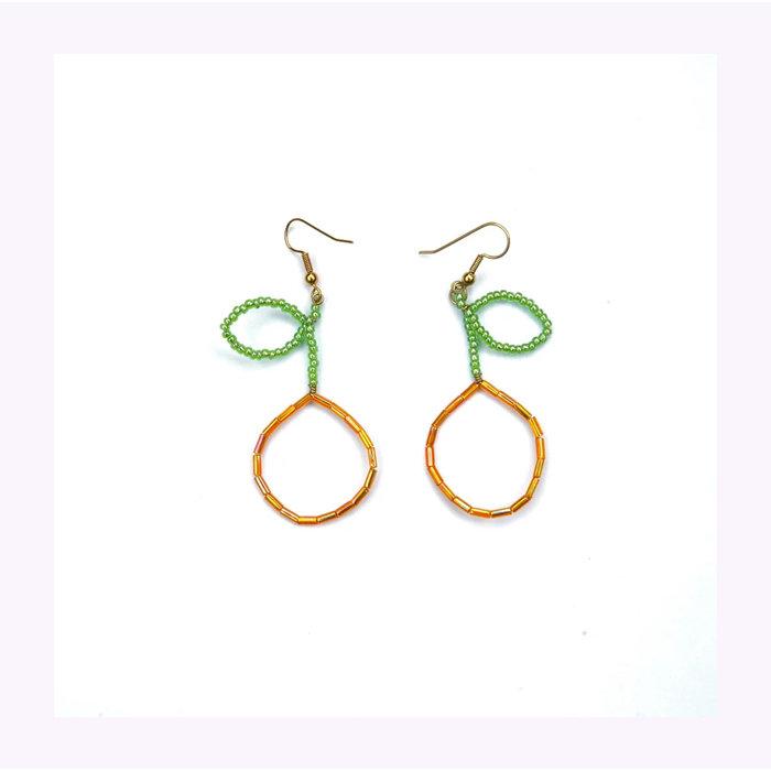 Pamplemousse Orange Earrings