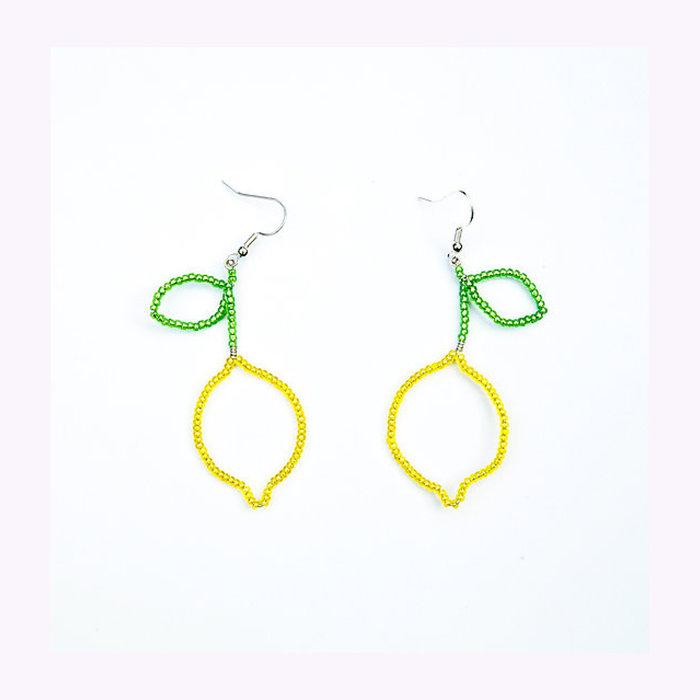 Pamplemousse Pamplemousse Lemon Earrings