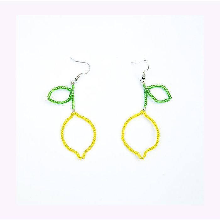 Pamplemousse Lemon Earrings