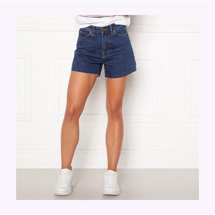 Dr Denim Nora Mid Retro Dark Denim Shorts
