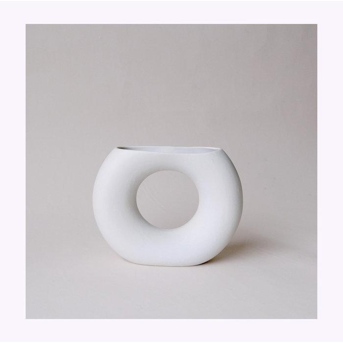 Minimalist Half Moon Ceramic Vase