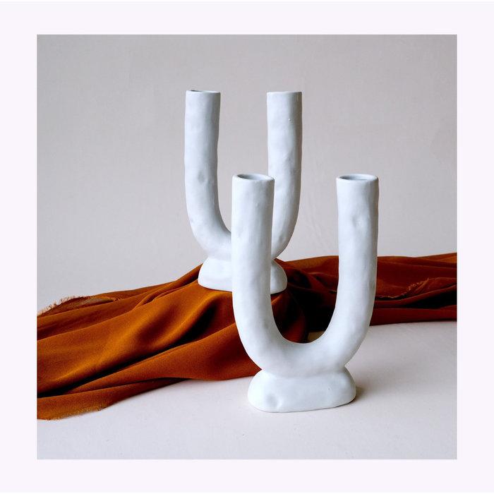 Minimalist U Shaped Ceramic Vase