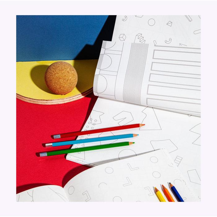 Cahier à colorier Modernist Poketo