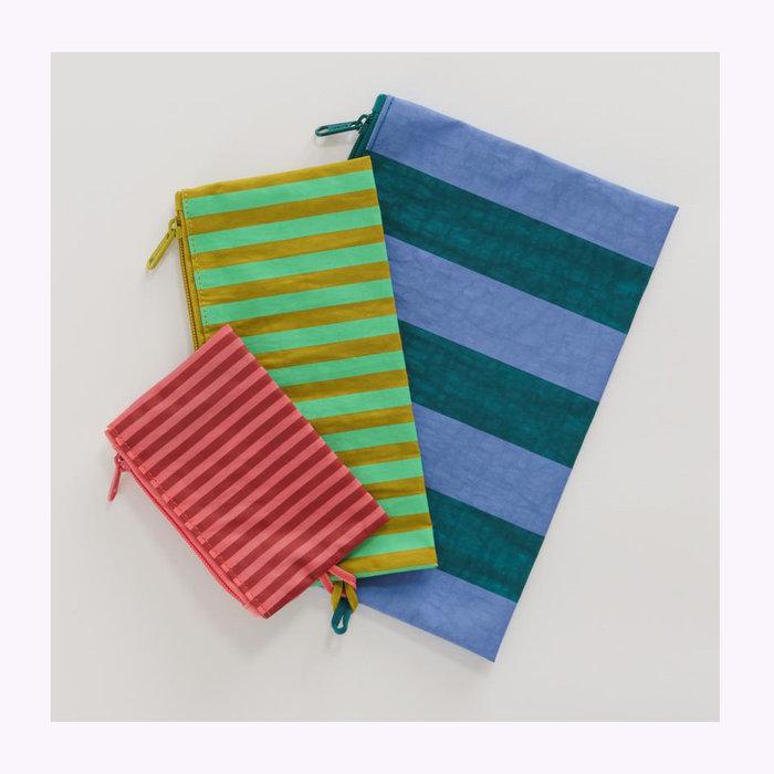 Baggu pochette Baggu Afternoon Stripes Pouch S (Cerise)