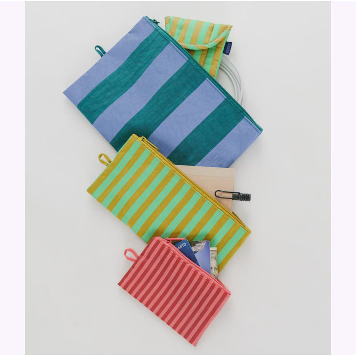Baggu Afternoon Stripes Pouch S (Cerise)