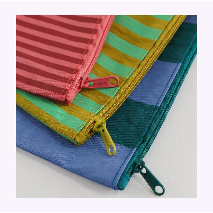 Pochette Baggu Afternoon Stripes L (Periwinkle)