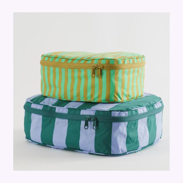 Baggu pochette Baggu Afternoon Stripes Cube Pouch L