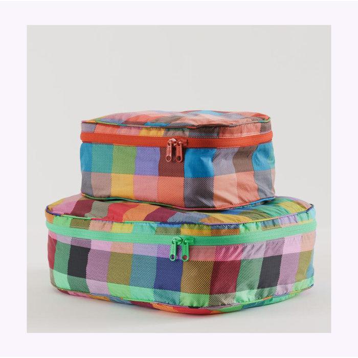 Pochette Cube Baggu Madras L