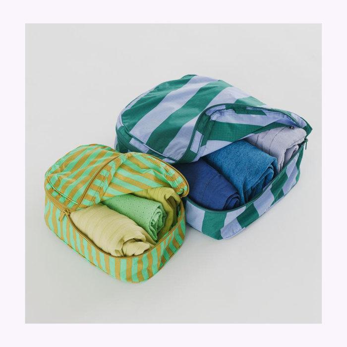 Baggu pochette Baggu Afternoon Stripes Cube Pouch S