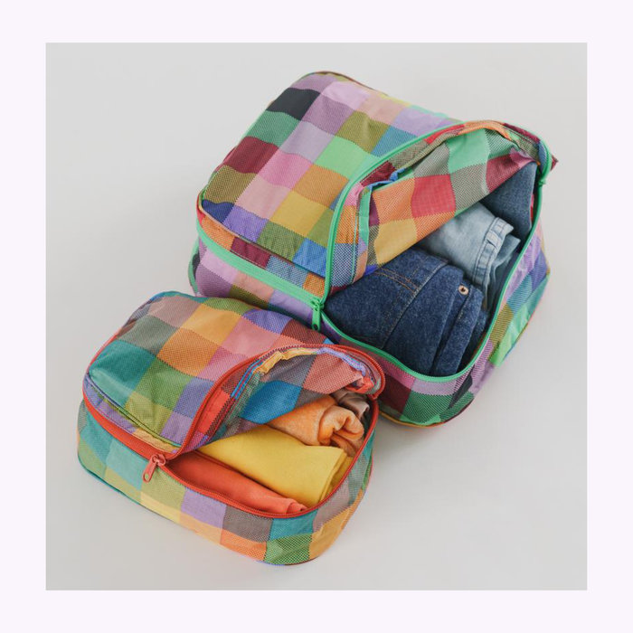 Baggu pochette Pochette Cube Baggu Madras S