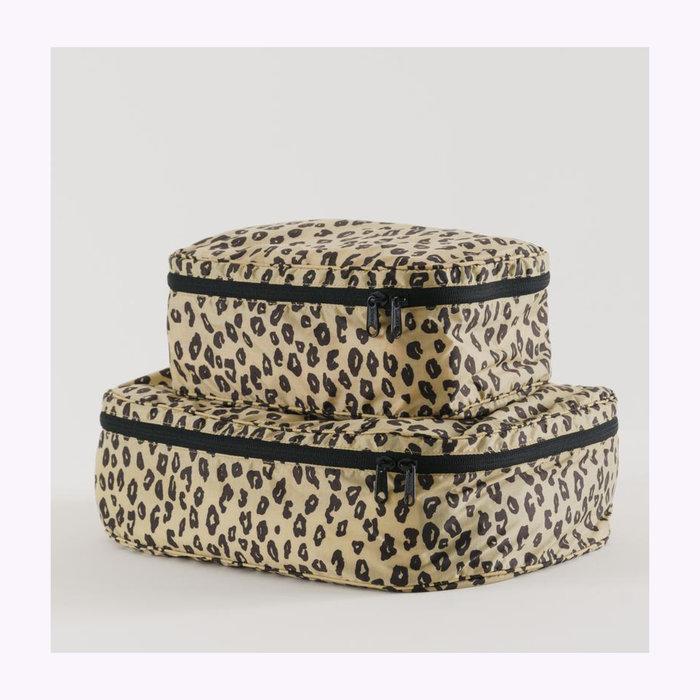 Baggu pochette Baggu Honey Leopard Cube Pouch L