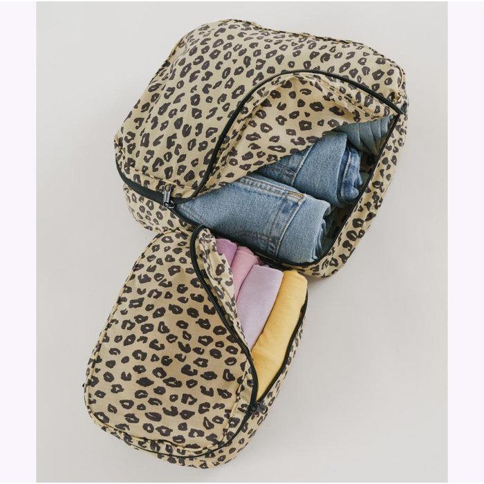 Baggu Honey Leopard Cube Pouch S
