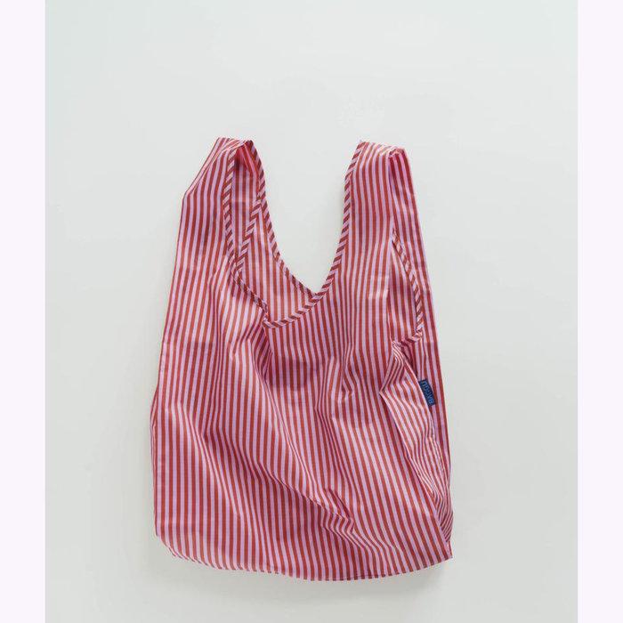 Baggu sac réutilisable Baggu Cerise Stripe Reusable Bag