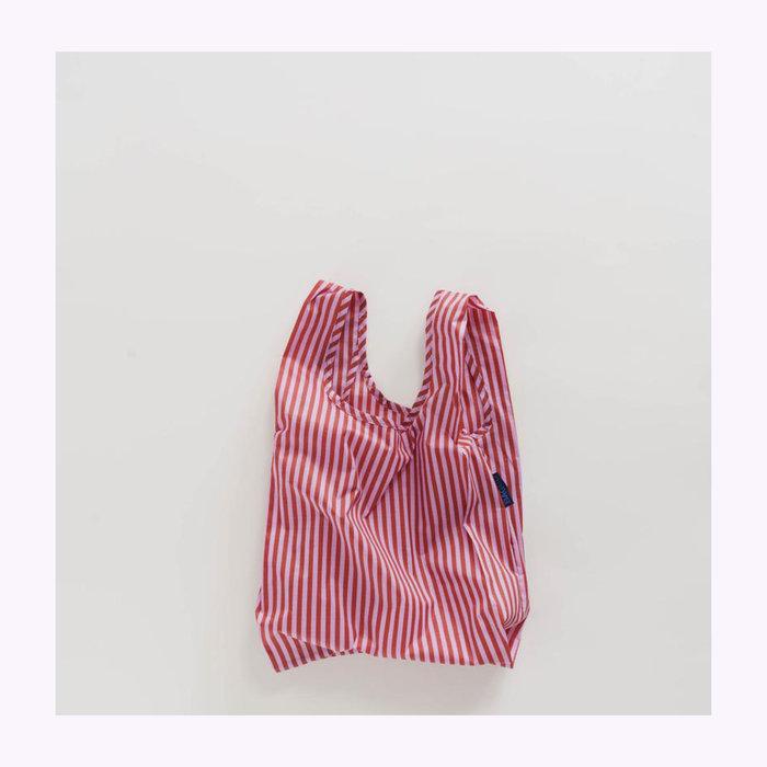 Baggu sac réutilisable Petit sac réutilisable Baggu Rayures Cerise