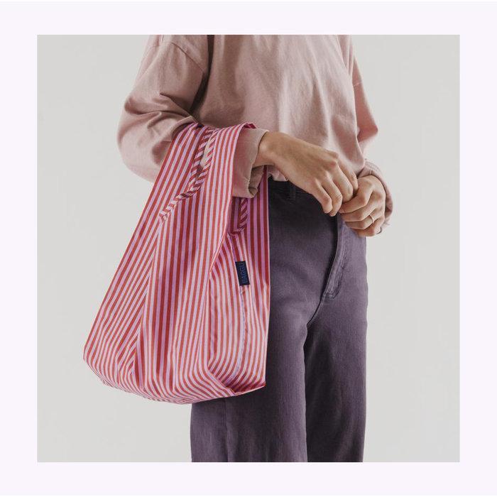 Petit sac réutilisable Baggu Rayures Cerise