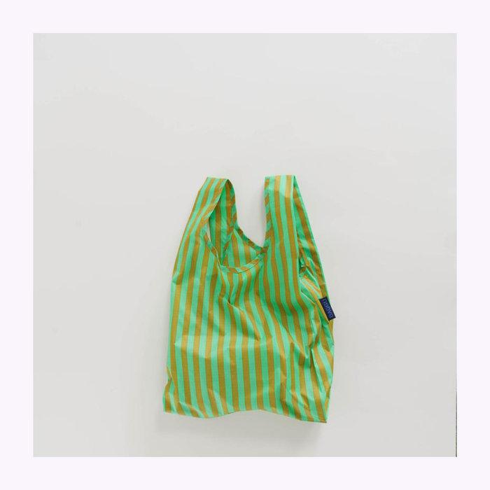 Baggu sac réutilisable Petit sac réutilisable Baggu Rayures Gazon