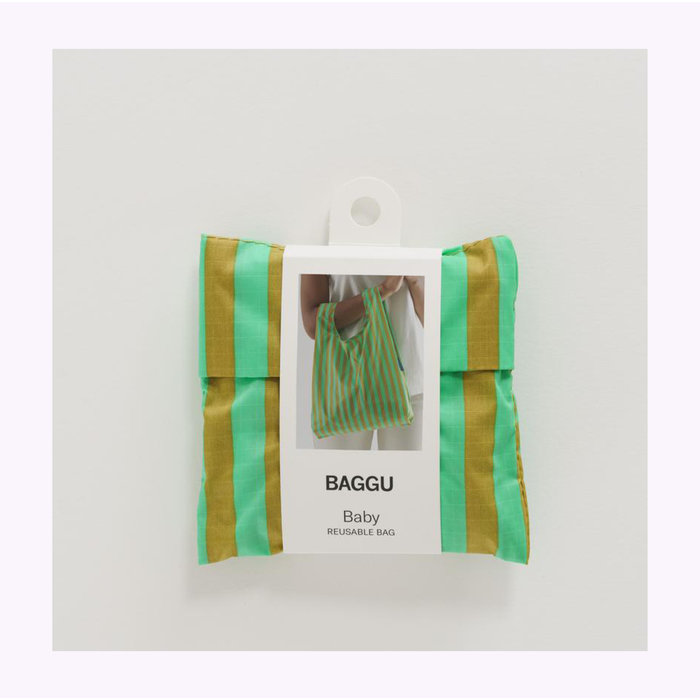 Petit sac réutilisable Baggu Rayures Gazon