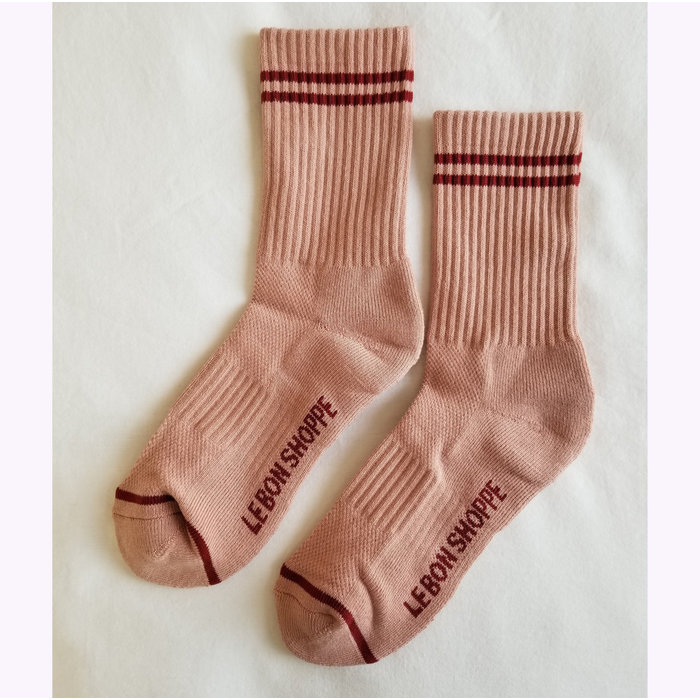 Le Bon Shoppe Vintage Pink Boyfriend Socks