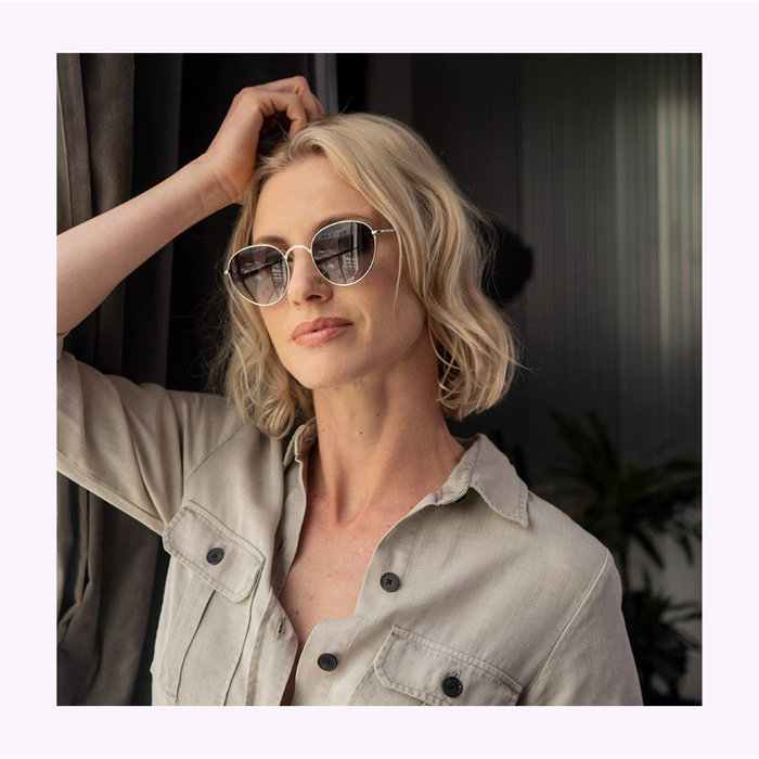 AJ Morgan Silvery High Level Sunglasses