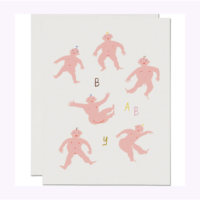 Red Cap Cards Little Humans Baby Card
