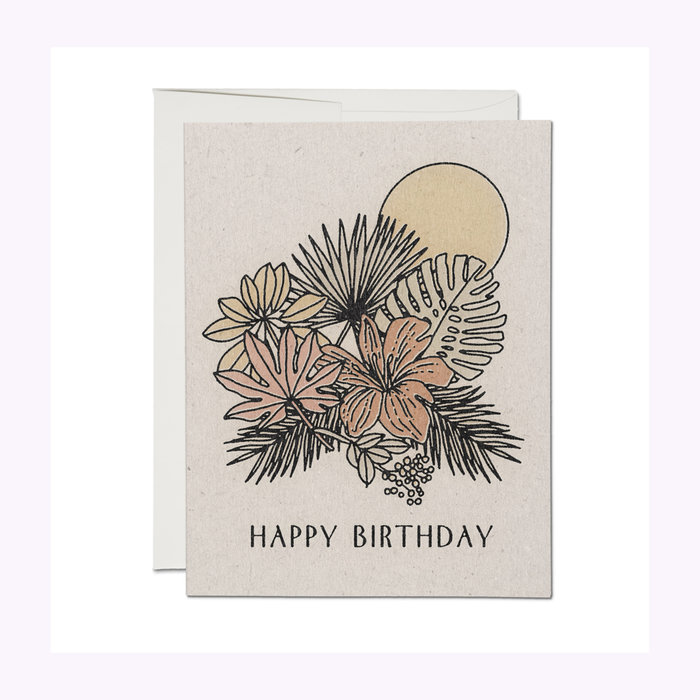 Red Cap Cards Red Cap Cards Tropical Birthday Card