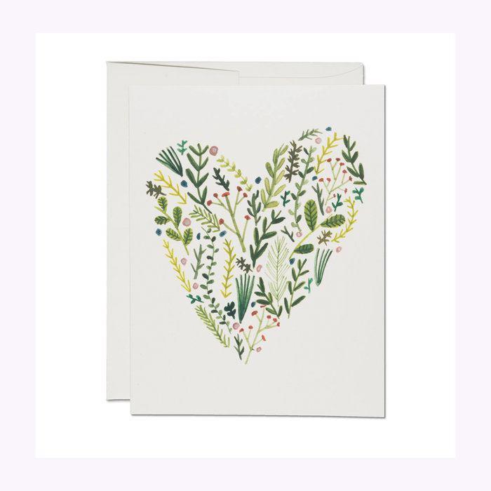 Red Cap Cards Red Cap Cards Floral Heart Card