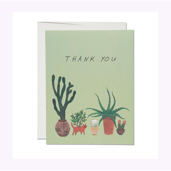 Carte Cactus Thank You Red Cap Cards