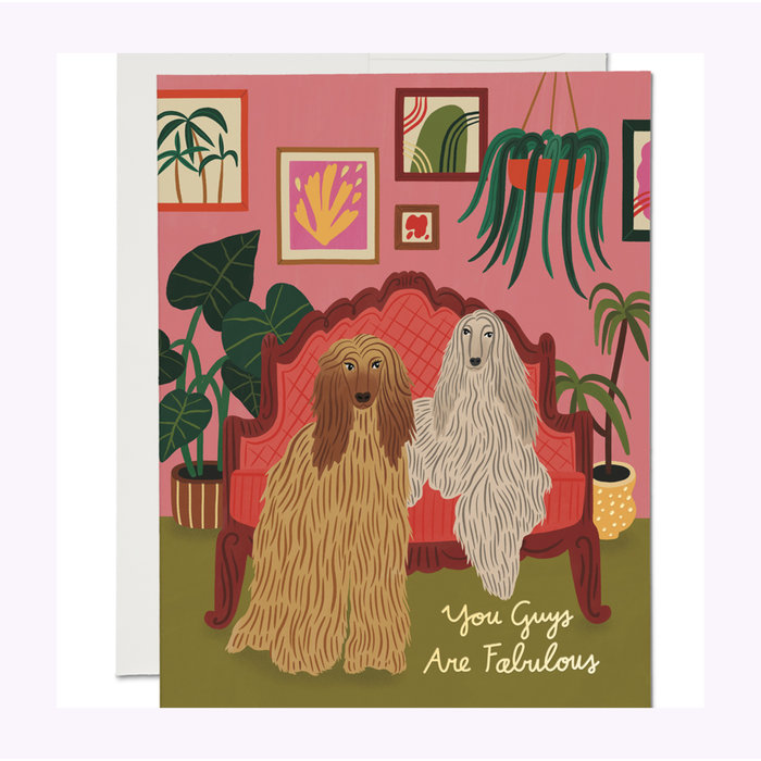 Carte Afghan Dogs Red Cap Cards