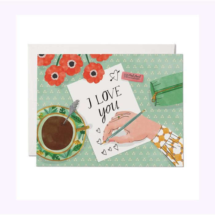 Carte Love Note Red Cap Cards