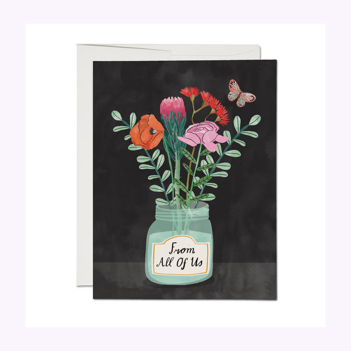 Red Cap Cards Red Cap Cards Flowers From Us Card