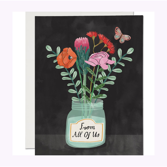 Carte Flowers from us Red Cap Cards