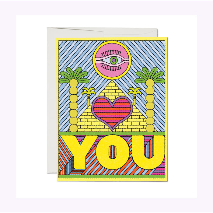 Red Cap Cards Eye Heart You Card