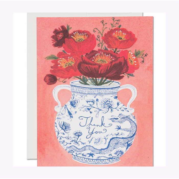 Carte Vase Dragon Red Cap Cards