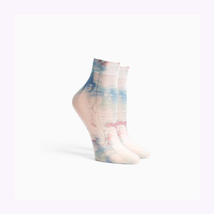 Richer Poorer Richer Poorer Painted Abstract Ikat Socks