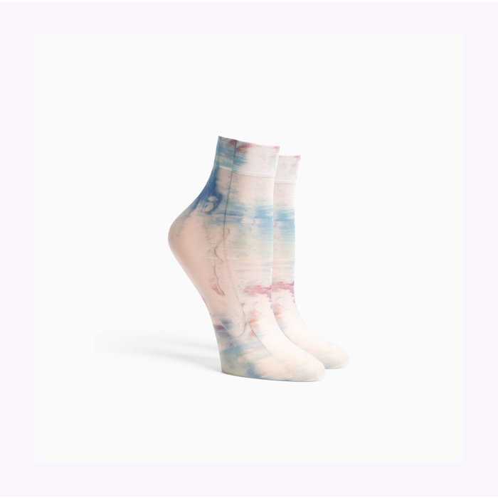 Richer Poorer Painted Abstract Ikat Socks