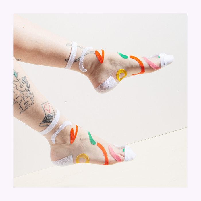 Poketo Poketo Outline Sheer Socks