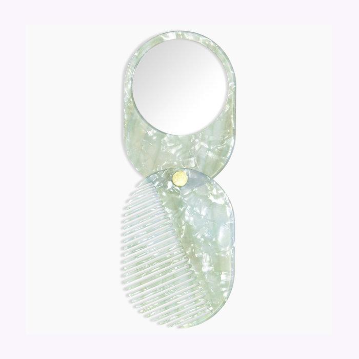 Poketo Poketo 2 in 1 Mint Mirror/Comb