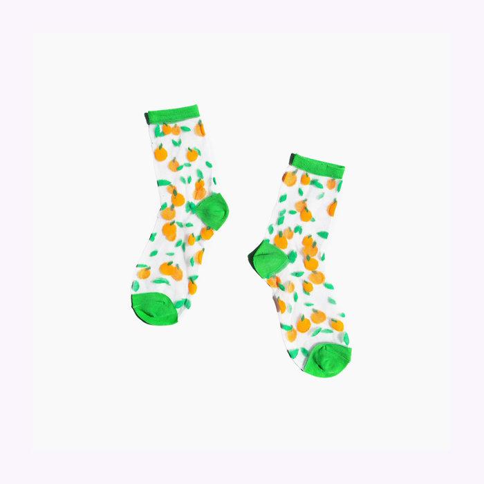 Poketo Poketo Sheer Oranges Socks