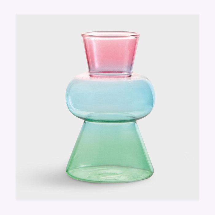 & Klevering Vase Droplet Rose &Klevering