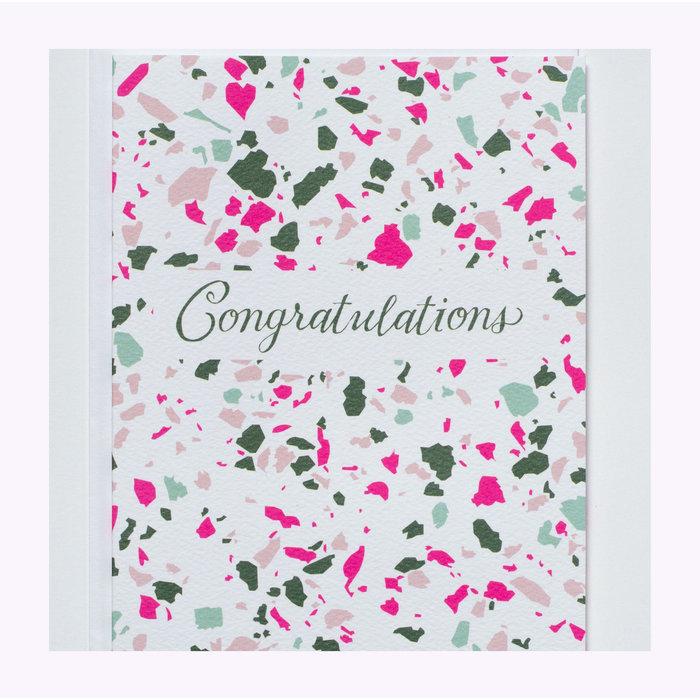 Carte Congrats Terrazzo Banquet Atelier