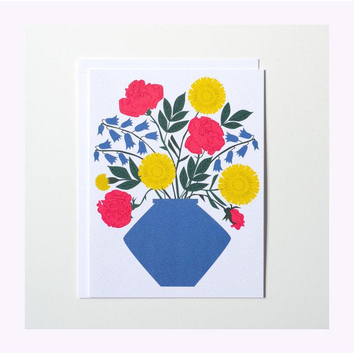 Carte Vase Bouquet Banquet Atelier
