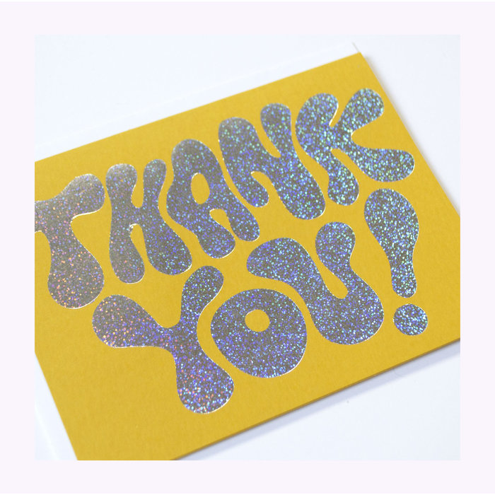 Banquet Atelier Thank You Glitter Hologram Card