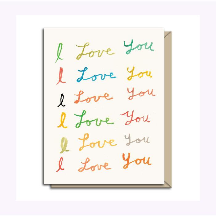 Carte de souhaits I Love You Michael Doyle