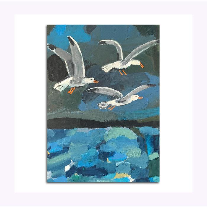 Michael Doyle Three Gulls Post Card