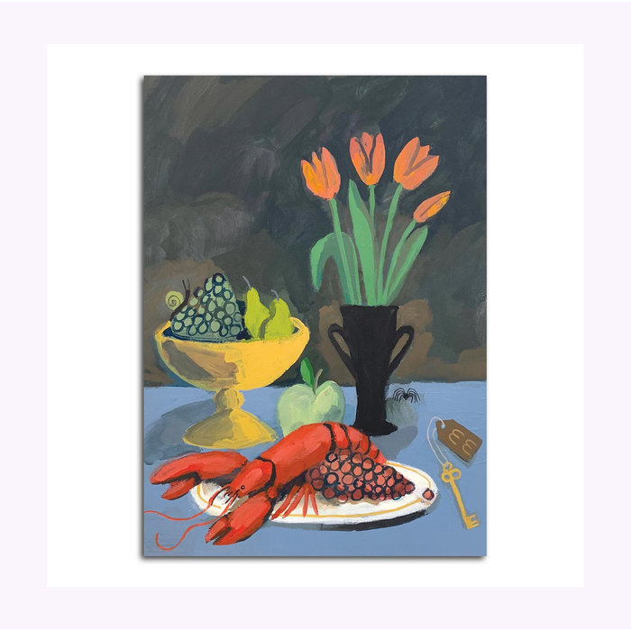 Michael Doyle Still Life With Tulips Post Card
